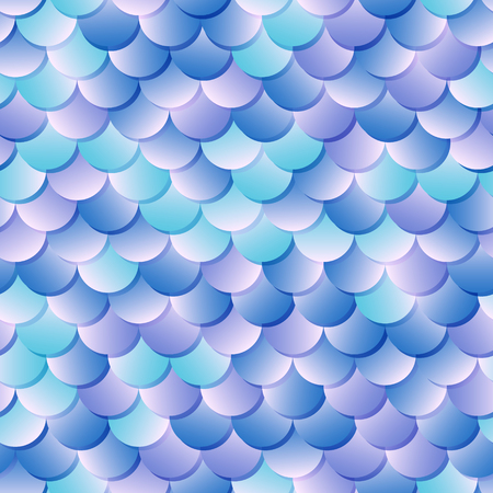 Mermaid skin seamless pattern. Fantastic fish scale background. 矢量图像