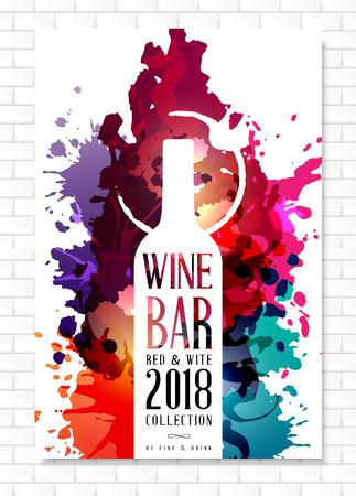 Modèle de carte des vins pour la conception de menus de bar ou de restaurant. Vecteurs