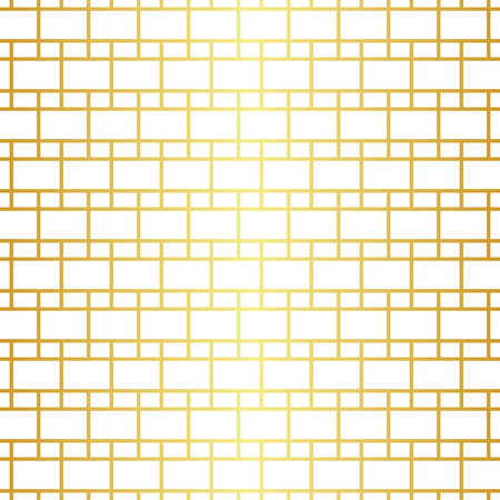 Geometric golden seamless pattern  イラスト・ベクター素材