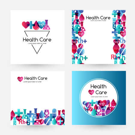 Health care design collection. Medical vector illustration.  イラスト・ベクター素材