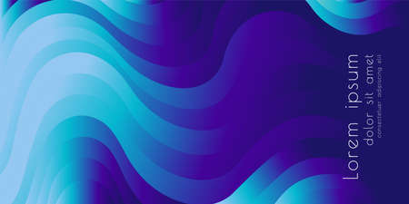 Colorful wavy abstract vector background. Vettoriali