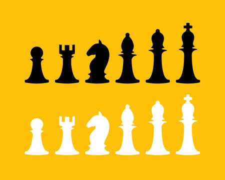 Chess icons collection. Vector design elements collection ..