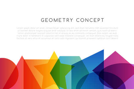 Geometrical colorful decoration. School conceptual vector illustration .. 矢量图像