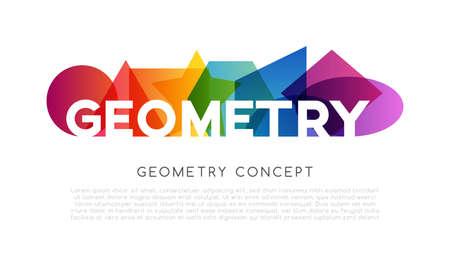 Geometrical colorful horizontal decoration. School conceptual vector illustration .. 矢量图像