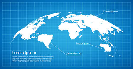 Business  illustration with globe map decoration.