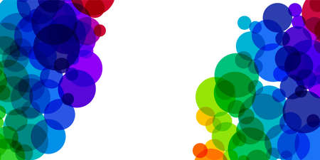 Rainbow splash  illustration. Horizontal background with copy space