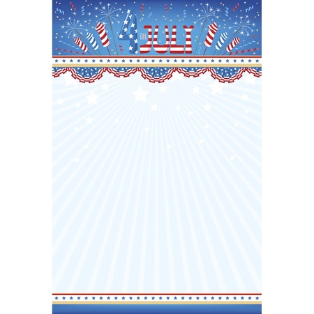 Background of independence day USA Vector