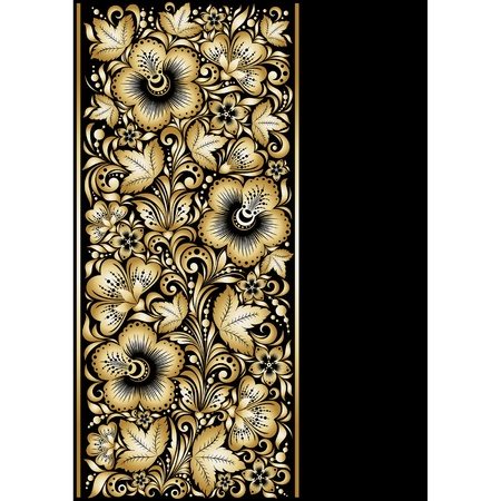 Golden ornamental background Vector
