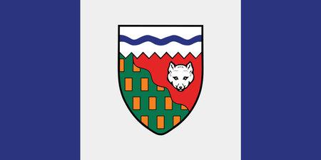 flag of the Canadian Northwest Territories vector illustration Vettoriali