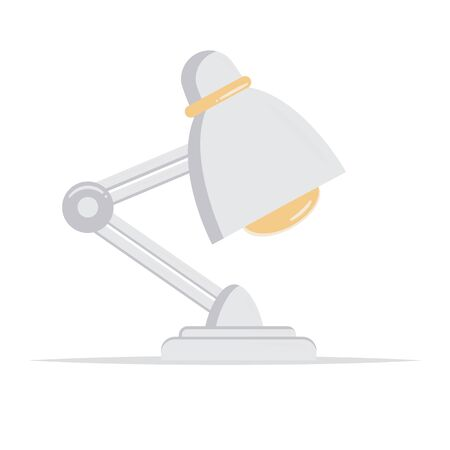 Office table lamp icon. Flat illustration of office table lamp Illustration