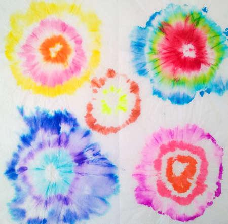 Tie Dye Spiral. Aquarelle Print. Trendy Tie Dye Spiral. Rainbow Artistic Circle. Tiedye Swirl. Vibrant Hand Drawn Illustration. Organic Artistic Dirty Painting. Beautiful Spiral Tie Dye.