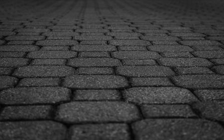 Black stone street road pavement texture
