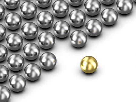 Leadership golden ball illustration 写真素材