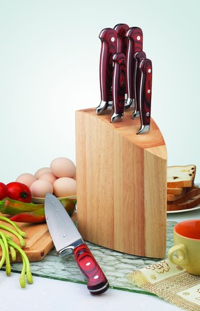 the kitchen knife and egg dishes