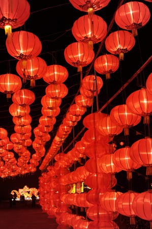 Red lantern in Chinese New year(Spring Festival)