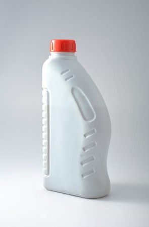 gas can: A new and clean oil can Stock Photo