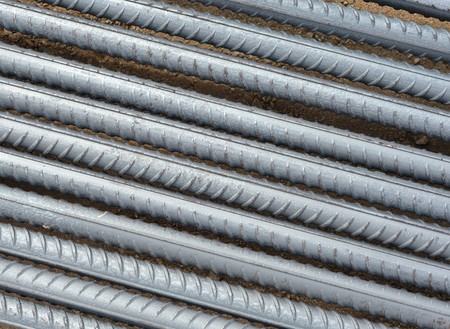 converge: Concrete-reinforcing teel bars close-up suitable for use as abstract or background
