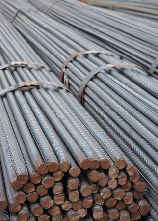 steel blue: Steel Reinforcement Bars used in construction