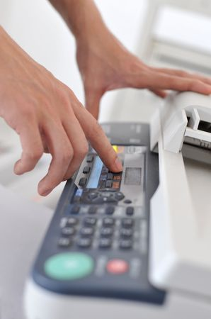 The use of fax machines photo