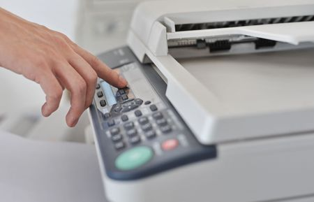The use of fax machines Stock Photo - 4725987