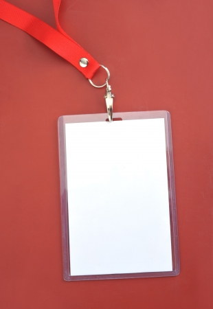 timecard: Blank backstage pass to put your own text on Stock Photo