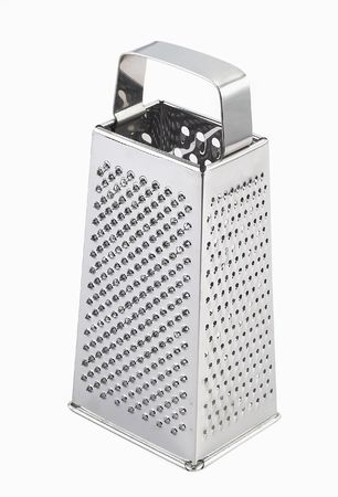 Shiny stainless steel cheese grater photo