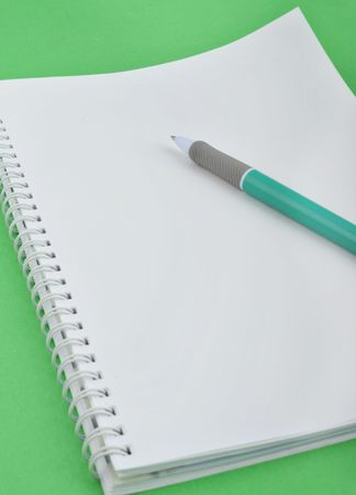 Notebooks and ball-point pen