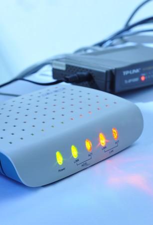 world wide web: Close-up modem