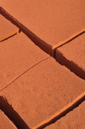 shrinkage: Dry red soil