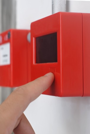 sprinkler alarm: Fire alarm button