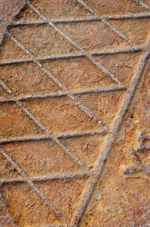 Close-up manhole cover Stock Photo - 7238897
