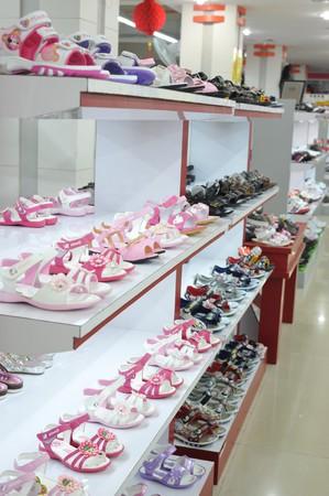 Little girl sandals shoe store Stock Photo - 7238819