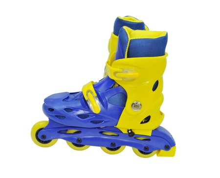 Isolated roller-skates against the white background  Stock Photo