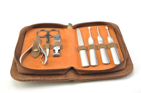 Manicure set case isolated on a white background  photo
