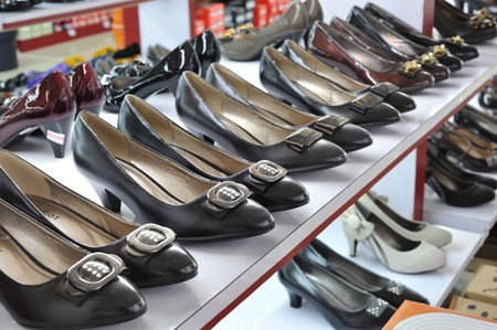 store shoes on display Stock Photo - 7238715