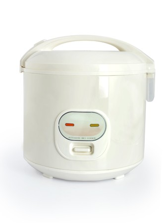 Rice cooker over white