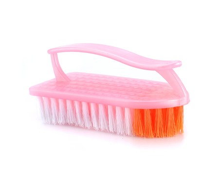 brush in: Clothes brush in white background Stock Photo