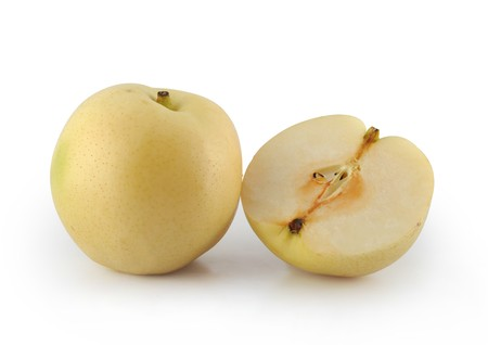 pears isolated white background
