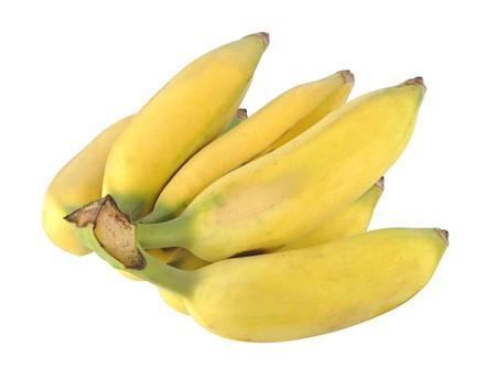 Banana isolated white background