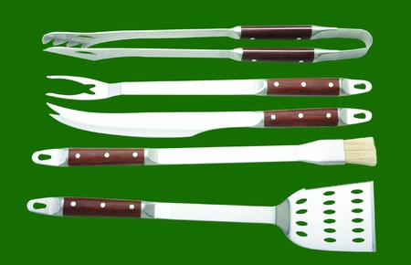 BBQ tools in green background