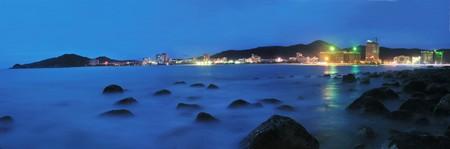 coastal city: A night view of coastal city