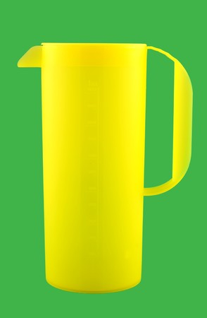 yellow cup in the green background