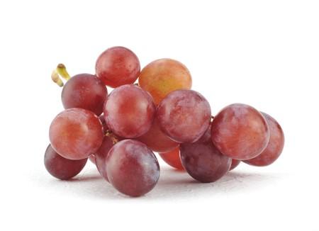 autumn motif: Fresh grape isolated on white Stock Photo
