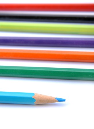 multiplicity: multi color pencil background Stock Photo