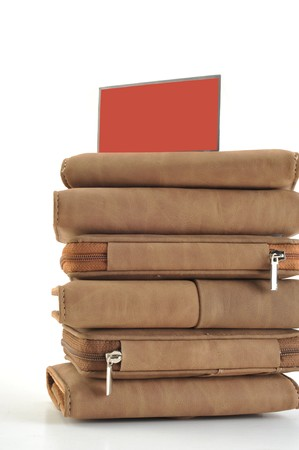 bankcard: Piles up wallet Stock Photo