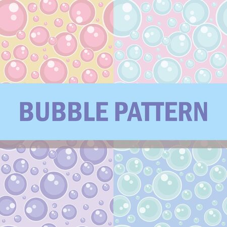 Bubble blower pattern background, 4 types different colors
