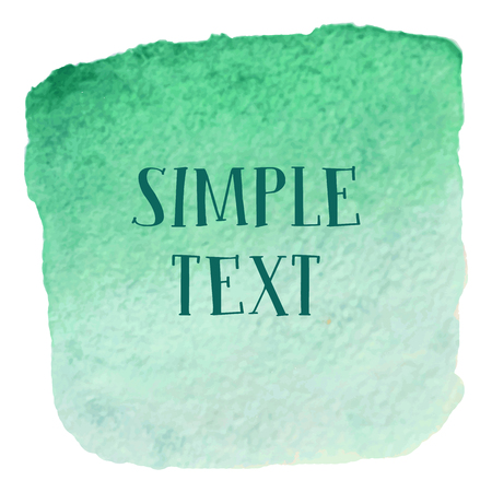 painting frame: Watercolor painting frame for text green color