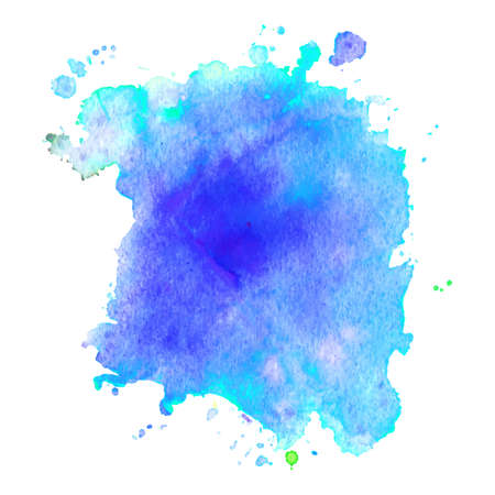 Abstract isolated watercolor hand drawn paper texture stain on white background for text design, web, label. 向量圖像