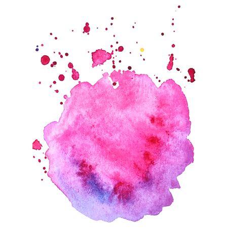 Splash aquarelle coloré abstrait isolé. Élément grunge pour la conception de papier.