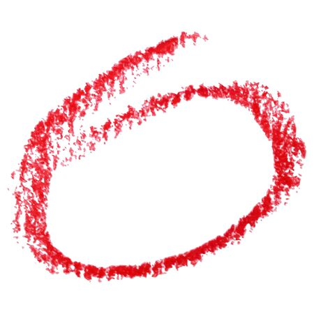 Red marker pen highlighter circle. Vector illustration